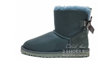 мини с лентами Ugg Australia Mini Bailey Bow Metallic Grey