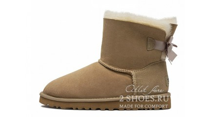 мини с лентами Ugg Australia Mini Bailey Bow Sand