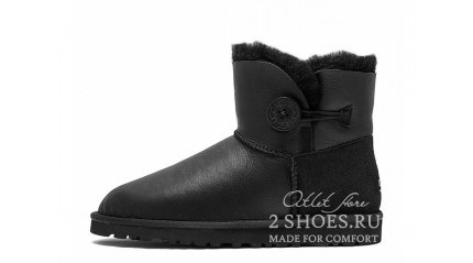 мини с пуговицей Ugg Australia Mini Bailey Button Metallic Black