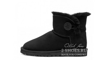 Угги женские Ugg Australia Mini Bailey Button Black