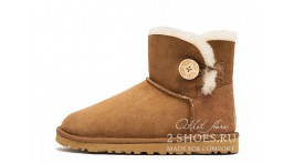 Мини с пуговицей Ugg Australia Mini Bailey Button Chestnut желтые