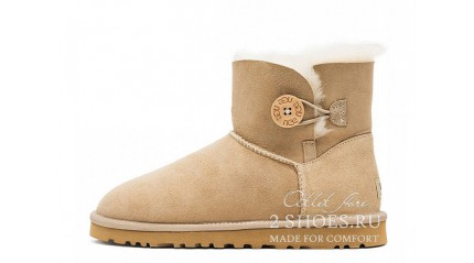 мини с пуговицей Ugg Australia Mini Bailey Button Sand