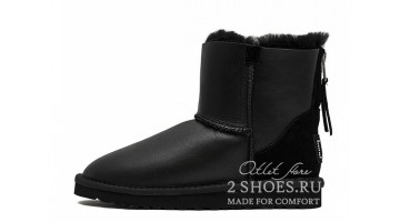 Угги женские Ugg Australia Mini Zip Metallic Black