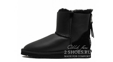 мини с молнией Ugg Australia Mini Zip Metallic Black