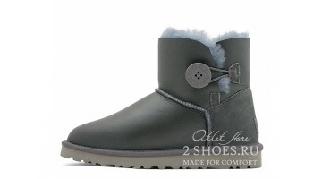 Угги женские Ugg Australia Mini Bailey Button Grey Met