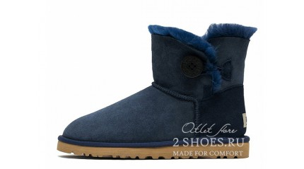 мини с пуговицей Ugg Australia Mini Bailey Button Navy