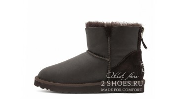 Угги женские Ugg Australia Mini Zip Metallic Chocolate