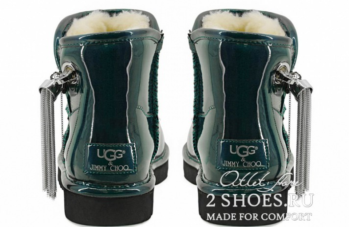 Мини джимми чу Ugg Australia Jimmy Choo Mini L&C Green зеленые кожаные, фото 4