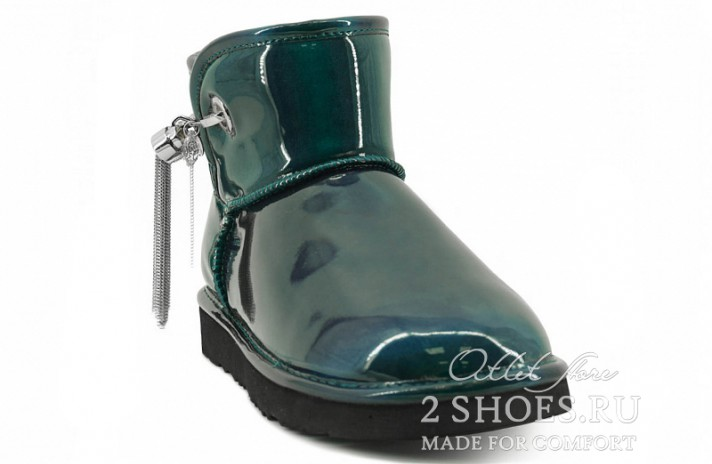 Мини джимми чу Ugg Australia Jimmy Choo Mini L&C Green зеленые кожаные, фото 2