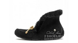 Мокасины Ugg Australia Mocassins Alena Black Full черные