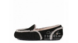 Мокасины Ugg Australia Mocassins Hailey Loafer Black черные