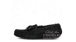 Мокасины Ugg Australia Mocassins Dakota Peare Black черные