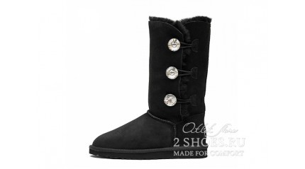 высокие с пуговицами Ugg Australia Bailey Button Triplet Bling Black