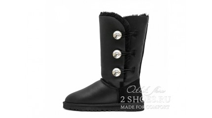 высокие с пуговицами Ugg Australia Bailey Button Triplet Bling Metallic Black