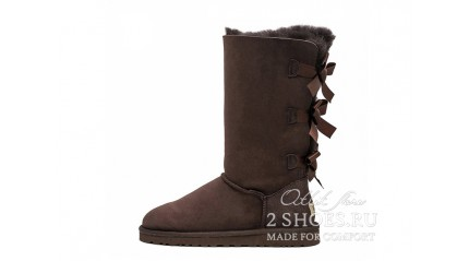 высокие с лентами Ugg Australia Bailey Bow Tall Chocolate