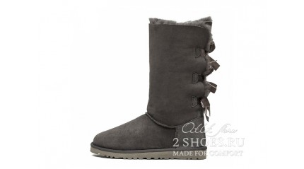 высокие с лентами Ugg Australia Bailey Bow Tall Gray