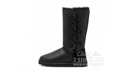 высокие с пуговицами Ugg Australia Bailey Button Triplet Black MET