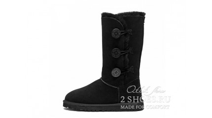 высокие с пуговицами Ugg Australia Bailey Button Triplet Black