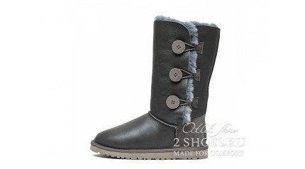 высокие с пуговицами Ugg Australia Bailey Button Triplet Gray MET