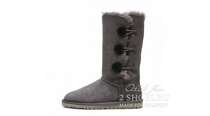 высокие с пуговицами Ugg Australia Bailey Button Triplet Gray
