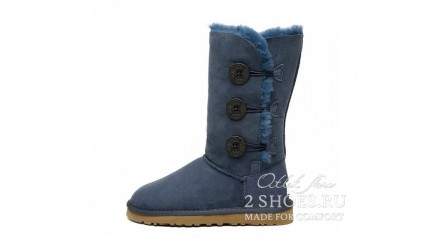 высокие с пуговицами Ugg Australia Bailey Button Triplet Navy