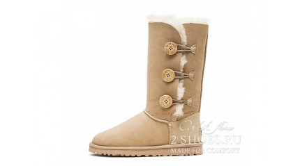 высокие с пуговицами Ugg Australia Bailey Button Triplet Sand