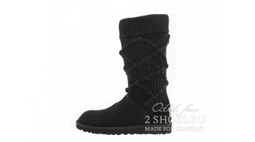 Угги женские Ugg Australia Cardy Tall Argyle Knit Black