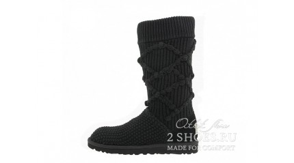 высокие вязаные Ugg Australia Cardy Tall Argyle Knit Black