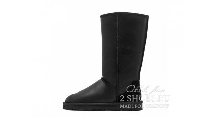 высокие Ugg Australia Classic Tall Metallic Black
