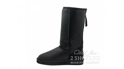 высокие с молнией Ugg Australia Classic Tall Zip Metallic Black