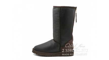 высокие с молнией Ugg Australia Classic Tall Zip Metallic Chocolate