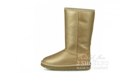 высокие Ugg Australia Classic Tall Soft Gold Metallic