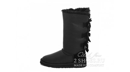 высокие с лентами Ugg Australia Bailey Bow Tall Black Metallic