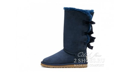 высокие с лентами Ugg Australia Bailey Bow Tall Navy