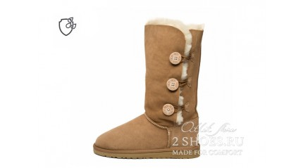 высокие с пуговицами Ugg Australia Bailey Button Triplet II Chestnut
