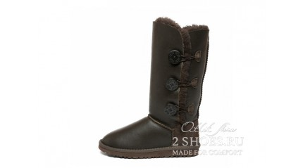 высокие с пуговицами Ugg Australia Bailey Button Triplet Chocolate MET