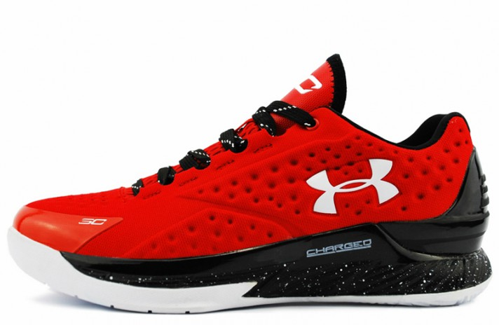 Under Armour Curry 1 Low Red Quickstrike красные