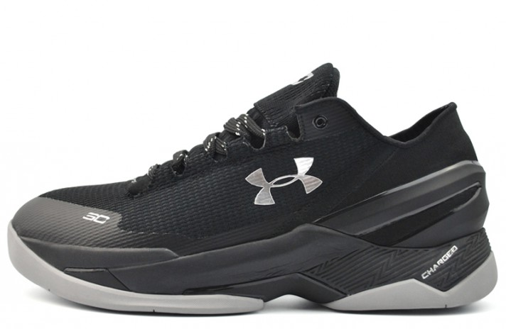 Under Armour Curry 2 Low Essential Black Silver черные