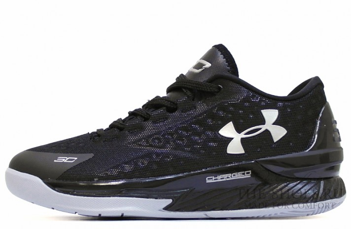 Under Armour Curry 1 Low Two A Days Black черные