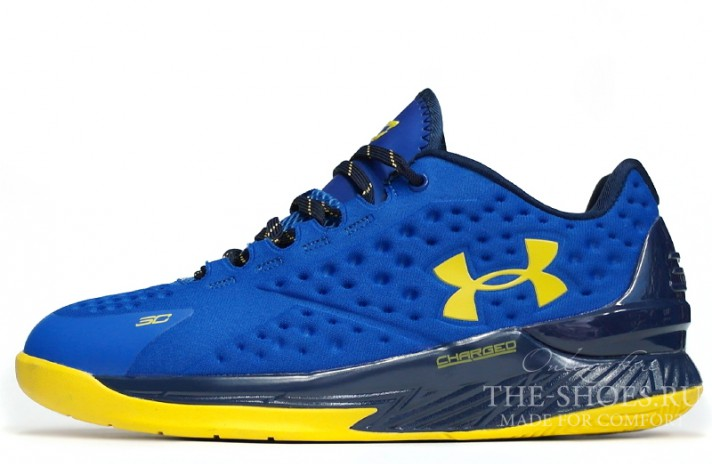 Under Armour Curry 1 Low Dub Nation Royal Blue синие