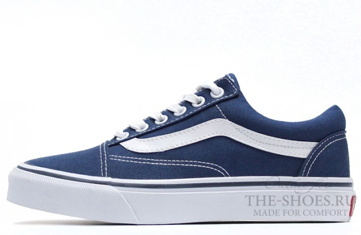 Vans Old Skool Classic Light Blue White синие