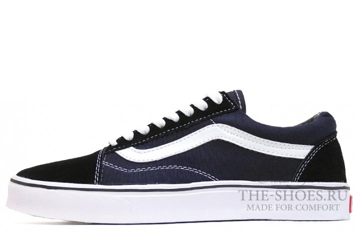 Vans Old Skool Black Suede Blue White темно-синие