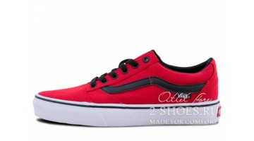 Кеды женские Vans Old Skool Red Black