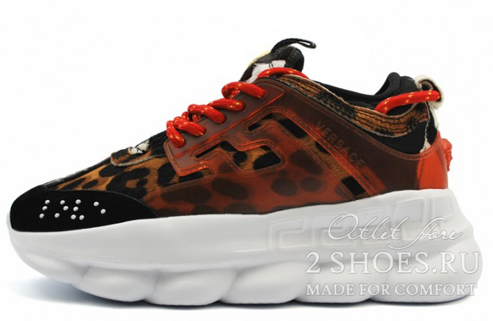 Кроссовки Versace Chain Reaction 2 Spotted Leopard